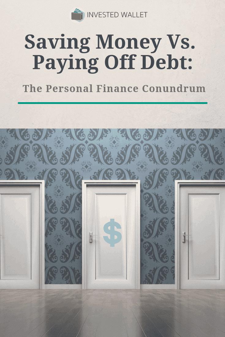 saving money vs. paying off debt