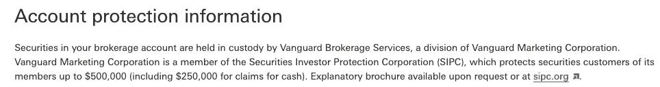 Vanguard Brokerage Account Protection