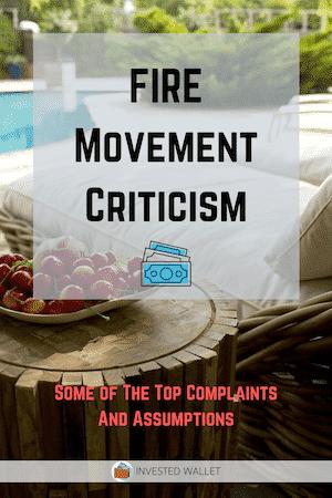 FIRE Movement Criticism