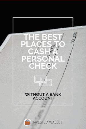 Cash A Personal Check