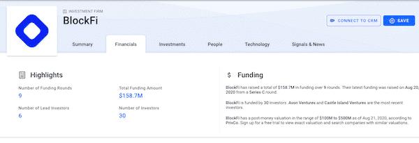 BlockFi Investments