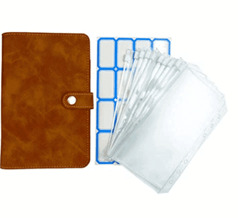 Clear Plastic Binder Envelopes with PU Leather Notebook