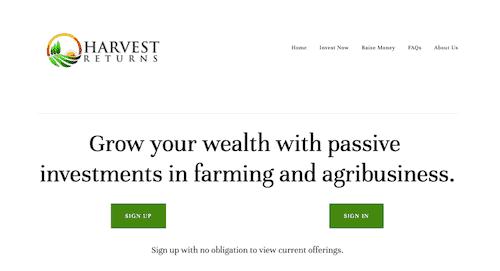Harvest Returns Platform.