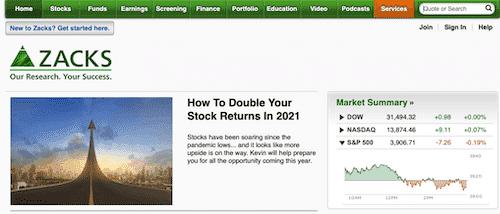 Zacks Investing Platform.