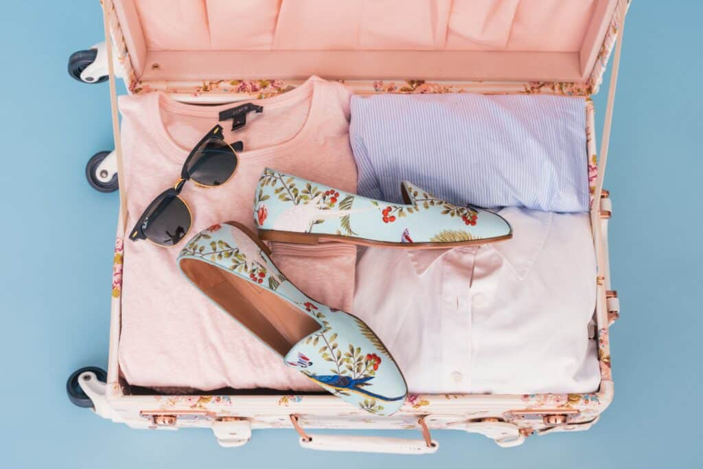 packing with a travel checklist
